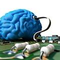 Blue brain & motherboard