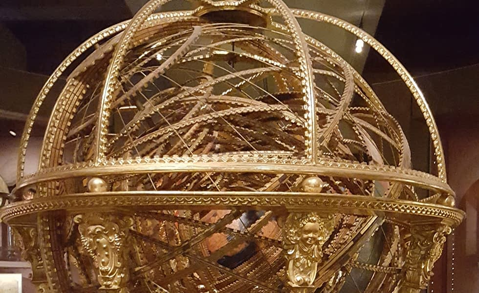 Gold mechanical globe