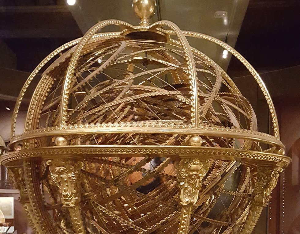 Gold mechanical globe